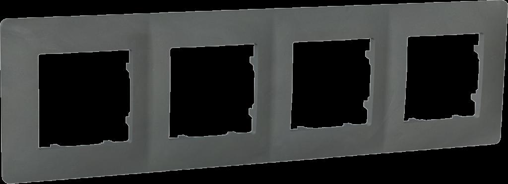 Рамка чотиримісна, серія CLASSIC, базальт image