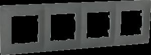 Рамка чотиримісна, серія CLASSIC, базальт