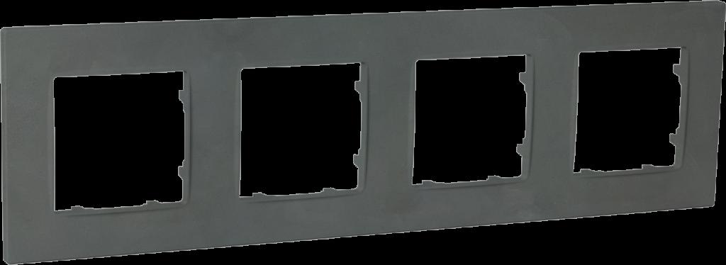 Рамка чотиримісна, серія NORDIC, базальт image