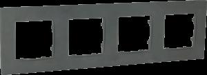 Рамка чотиримісна, серія NORDIC, базальт