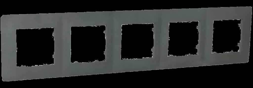 Рамка п'ятимісна, серія CLASSIC, базальт image