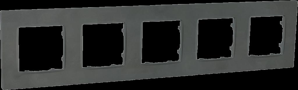 Рамка п'ятимісна, серія NORDIC, базальт image