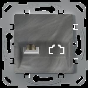 Комп'ютерна розетка одинарна, базальт