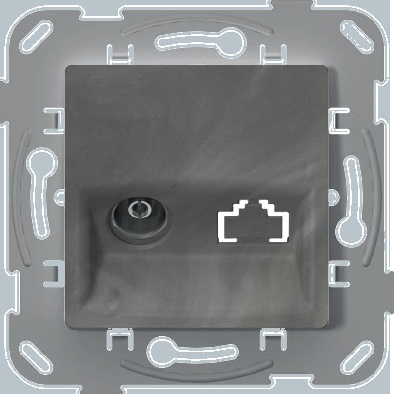 Телевізійна розетка кінцева, базальт image