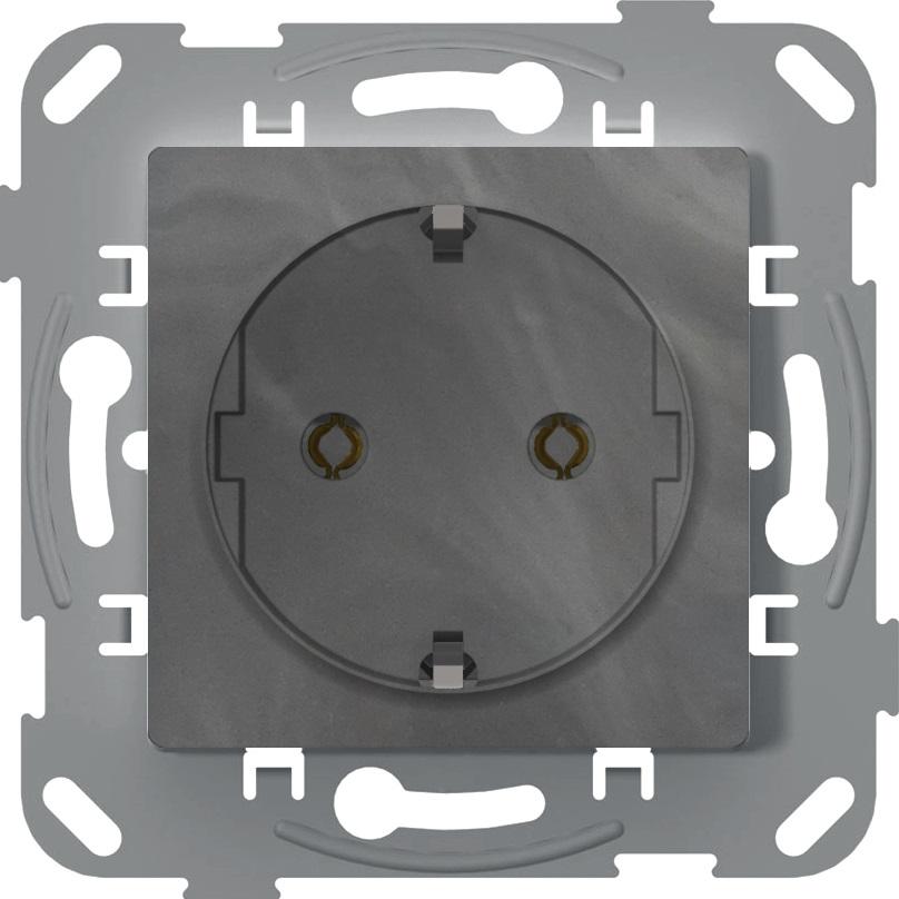 Розетка з заземленням, антимікробний, базальт image
